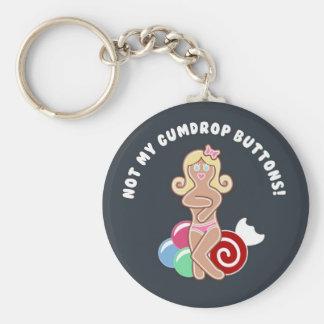 Gumdrop Button Key Chains