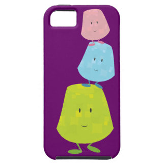 Gumdrop characters balancing on each other iPhone SE/5/5s case