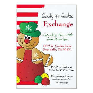 Gumdrop Gingerbread Cookie & Candy Exchange Card