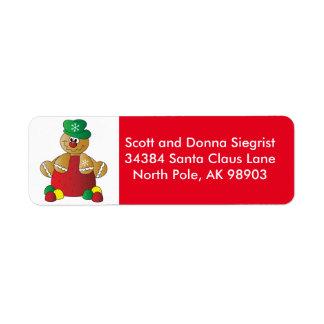 Gumdrop Gingerbread Man   Christmas Label