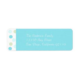 Gumdrop Return Address Label (blue)
