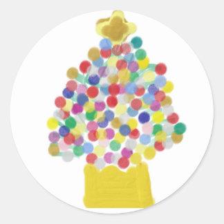 Gumdrop Tree Classic Round Sticker