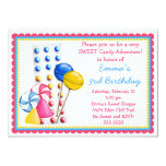 "Gumdrops and Candy Buttons Invitation- Hot Colors 5"" X 7"" Invitation Card"
