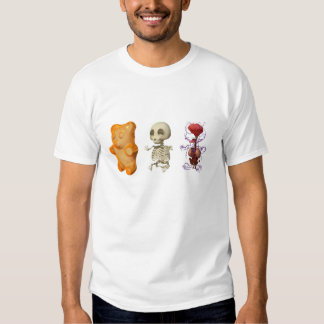 Gummi Bear Anatomy Triptic WHITE Shirt