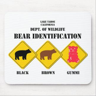Gummi Bear Warning - Tahoe Wildlife Mouse Pad