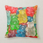 Gummi bears collage fun for  kids & adults cute pillow