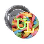 gummi worm$ pinback button