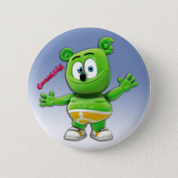 Gummibär Button On Blue