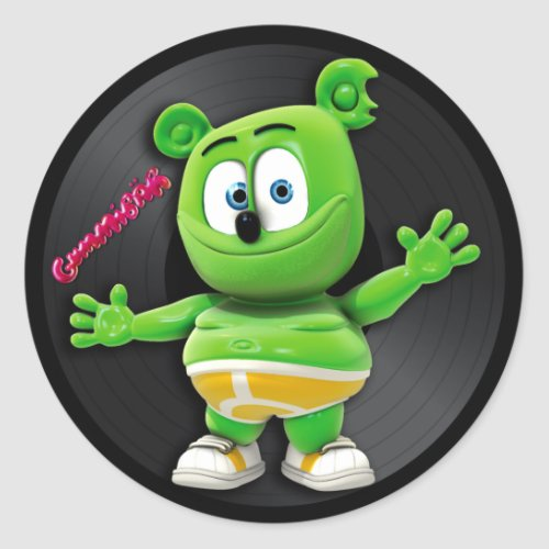 Gummibär DJ Vinyl Record Sticker