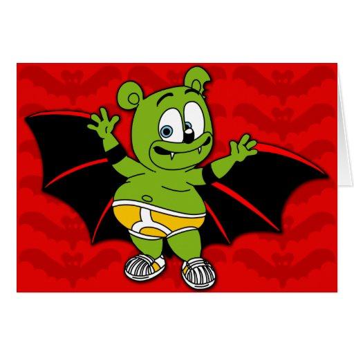 Gummibär es una tarjeta de Halloween del vampiro
