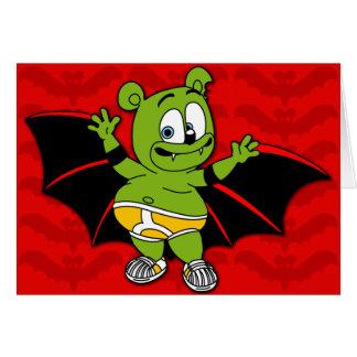 Gummibär Is A Vampire Halloween Card
