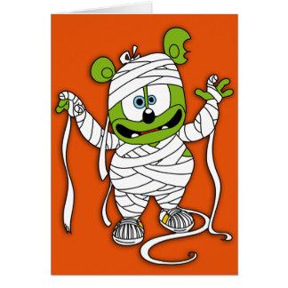 Gummibär Mummy Halloween Card