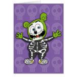 Gummibär Skeleton Halloween Card