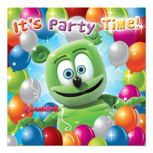 Gummibär (The Gummy Bear) Party Invitation