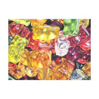 Gummibärchen - dibujo de lápiz de color impresion en lona
