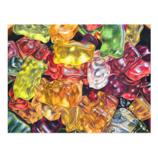 Gummibärchen - dibujo de lápiz de color postales