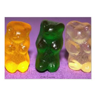"Gummie Bear 5"" X 7"" Invitation Card"
