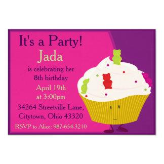 Gummy Bear Cupcake Card