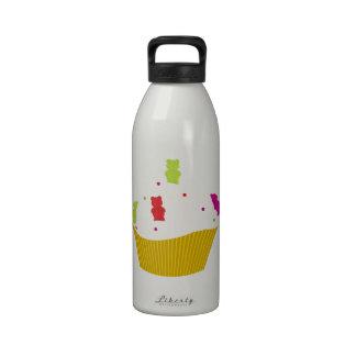 Gummy bear cupcake water bottle