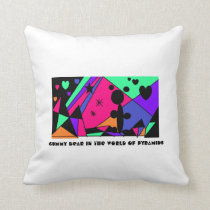 Gummy Bear in the World of Rainbow Pyramids Throw Pillow