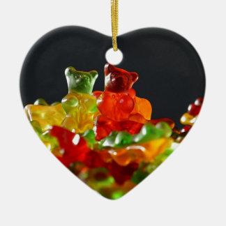Gummy Bear Lovers Ceramic Ornament