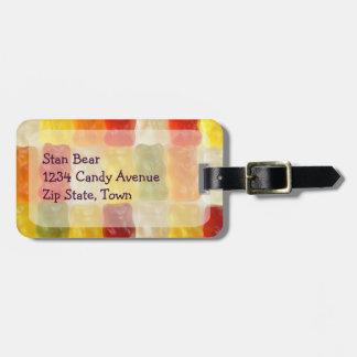 gummy bear luggage tags