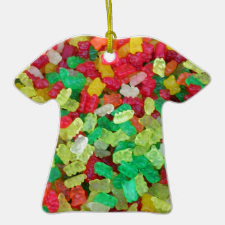 Gummy Bear Double-Sided T-Shirt Ceramic Christmas Ornament