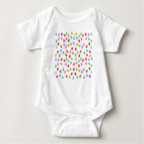 Gummy bear pattern baby bodysuit