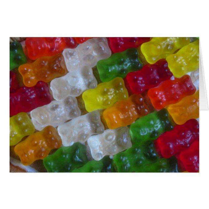 Gummy Bear Pattern Card