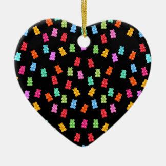 Gummy bear pattern ceramic ornament