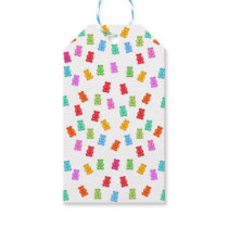 Gummy bear pattern gift tags