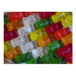 Gummy Bear Pattern Postcard