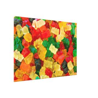 Gummy Bear Rainbow Colored Candy Canvas Print
