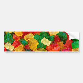 Gummy Bear Rainbow Colored Candy Car Bumper Sticker