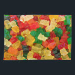 """Gummy Bear Rainbow Colored Candy Kitchen Towel<br><div class=""""desc"""">Gummy Bear Rainbow Colored Candy. This file is made available under the Creative Commons CC0 1.0 Universal Public Domain Dedication. http://commons.wikimedia.org/wiki/File:Oursons_gélatine_marché_Rouffignac.jpg</div>"""