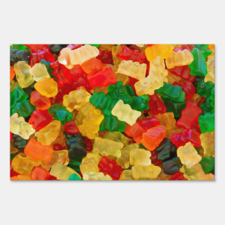 Gummy Bear Rainbow Colored Candy Lawn Sign