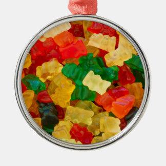 Gummy Bear Rainbow Colored Candy Metal Ornament