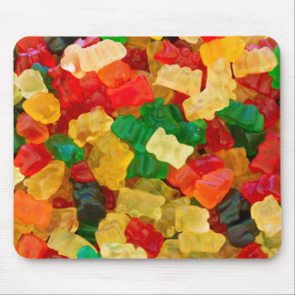 Gummy Bear Rainbow Colored Candy Mouse Pad