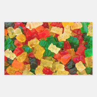 Gummy Bear Rainbow Colored Candy Rectangular Sticker