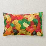Gummy Bear Rainbow Colored Candy Throw Pillow