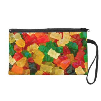 Gummy Bear Rainbow Colored Candy Wristlet Purse