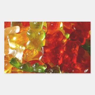 Gummy Bear Rectangular Sticker