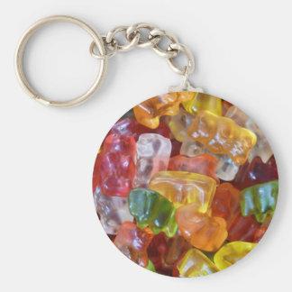 Gummy Bears Background Basic Round Button Keychain