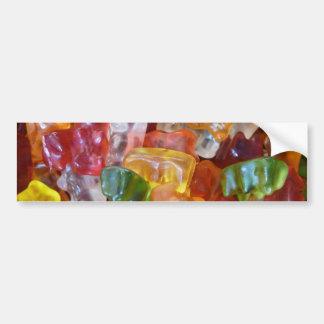 Gummy Bears Background Car Bumper Sticker