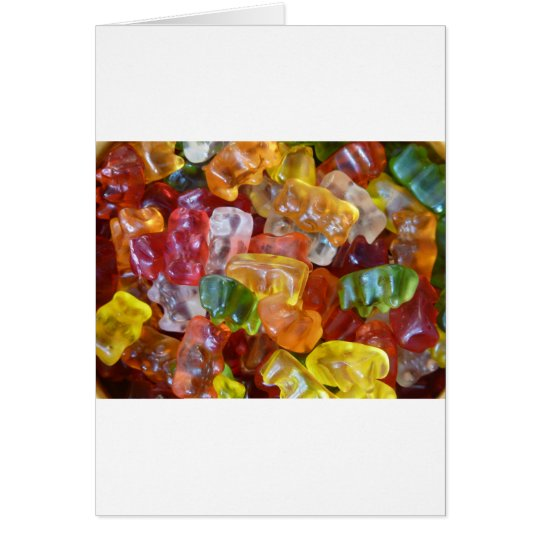 Gummy Bears Background Card