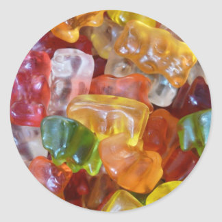Gummy Bears Background Classic Round Sticker