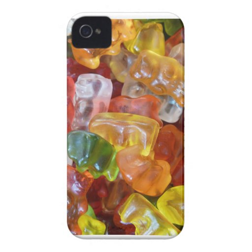 Gummy Bears Background iPhone 4 Cases