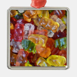 Gummy Bears Background Metal Ornament