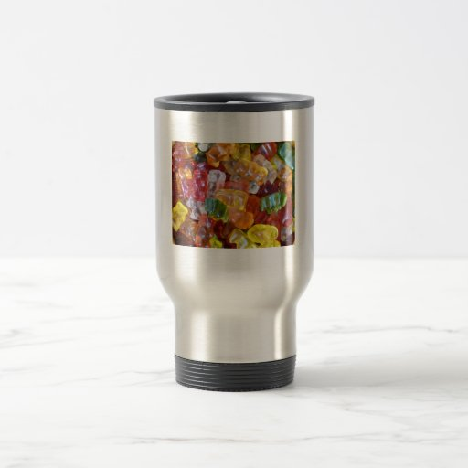 Gummy Bears Background 15 Oz Stainless Steel Travel Mug