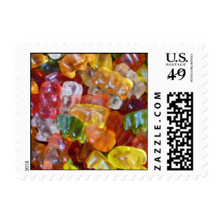 Gummy Bears Background Postage Stamps